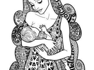 breastfeeding-mother-adult-coloring-page